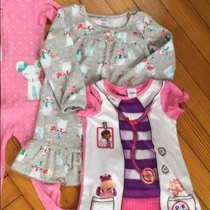 2T Disney & Carter's Nightgown Pajama Bundle